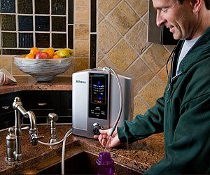 Athena water ionizer in kitchen