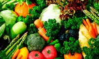 Vegetable Colors of Alkaline Foods, Fruit and Greens