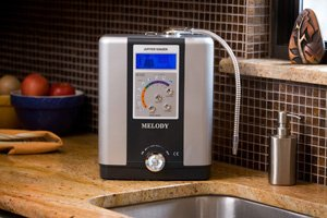 Melody ionizer on Kitchen Counter Top