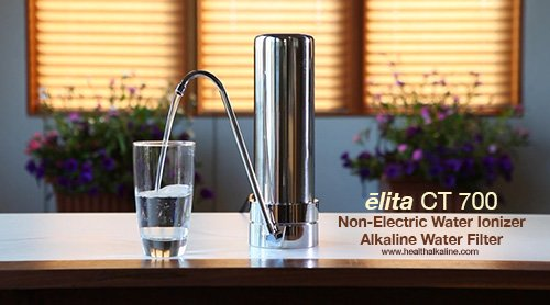 alkaline water filter: elita non-electric water ionizer